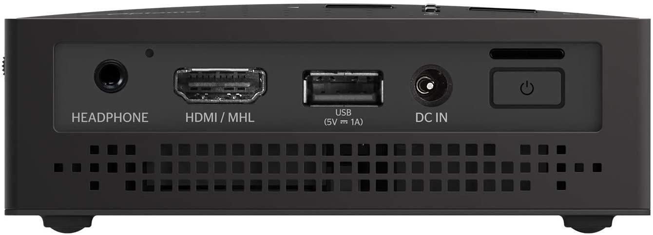 test Optoma WXGA LV130 pico vidéo projecteur arriere