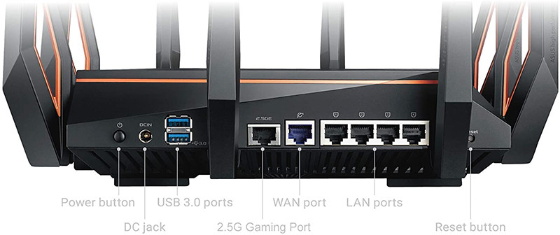 ASUS GT-AX11000 Rapture Routeur Gaming Wi-Fi 6 Ai Mesh