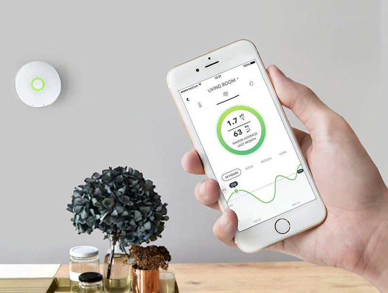 Airthings Wave Smart - Détecteur de Radon