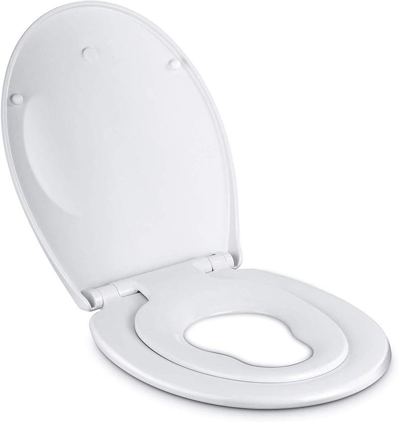 Amzdeal Abattant WC fermeture en douceur, Lunette de Toilette à descente lente avec Frein de Chute