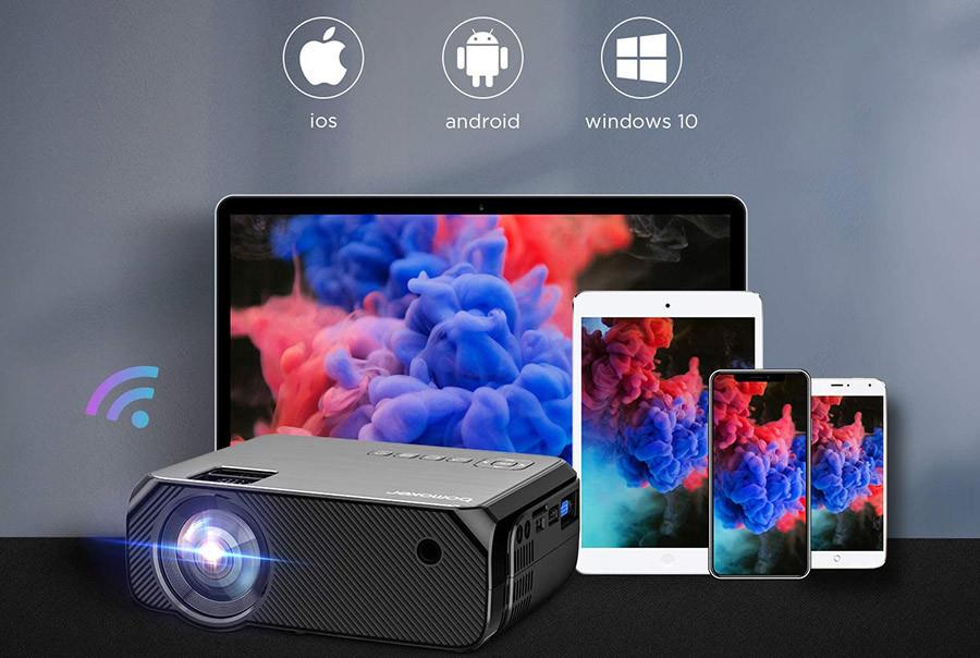 Avis BOMAKER WiFi Vidéoprojecteur 6000 Lux Wireless Screen Mirroring