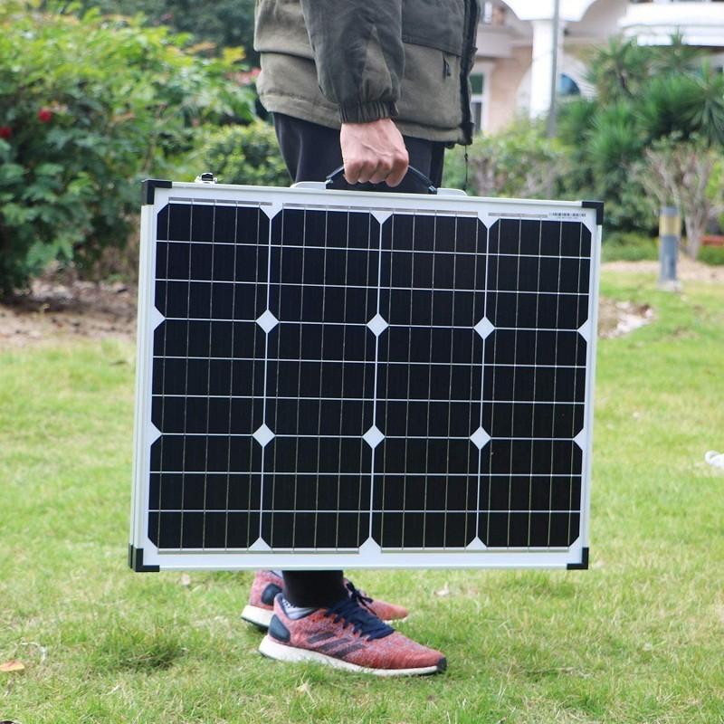 Avis - DOKIO Kit Panneau solaire pliable 100WC - 12V Idéal pour les utilisations embarquées comme le bateau, camping-car, véhicule divers