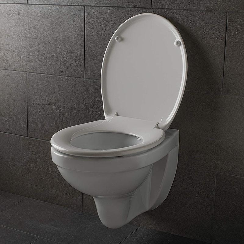 Avis Dombach® - Abattant pour wc - Nettoyage facile cuvette wc anti-bactérienne et amovible - Système innovant de fermeture en douceur avec Frein de Chute et Démontage Rapide - Lunette de Toilette