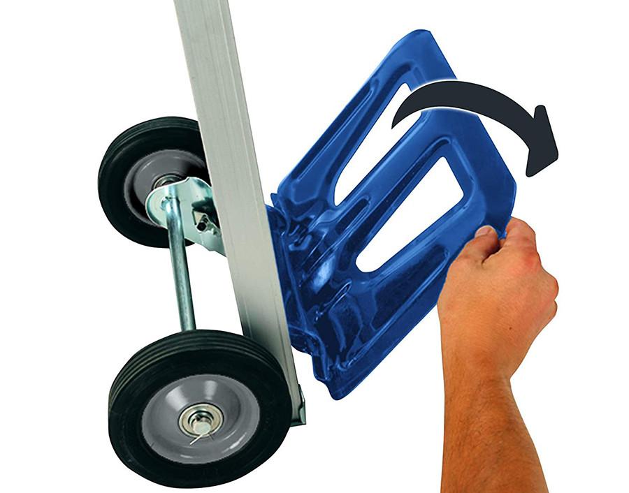 Avis Einhell Diable Pliant - Cadre en aluminium, guidon extensible, support de soutien pliant, charge maximale 90 kg