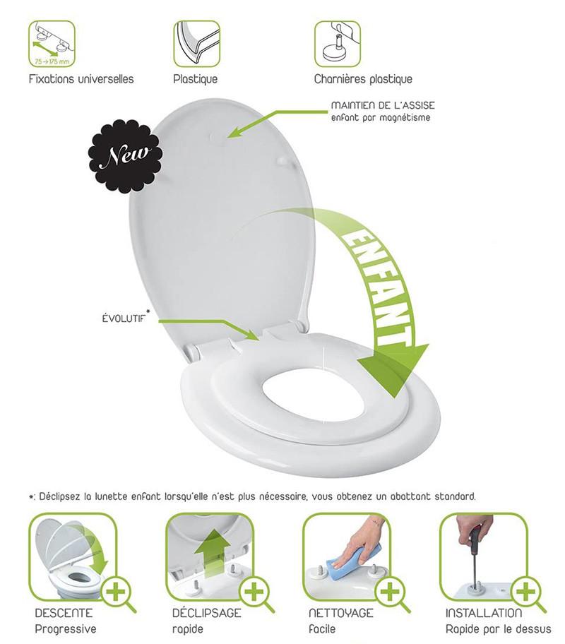 Avis Gelco Design 707997 Bambino Abattant avec lunette enfant intégrée déclipsable