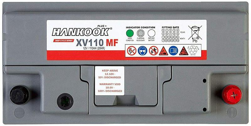 Avis Hankook XV110 12V 110Ah Batterie Décharge Lente