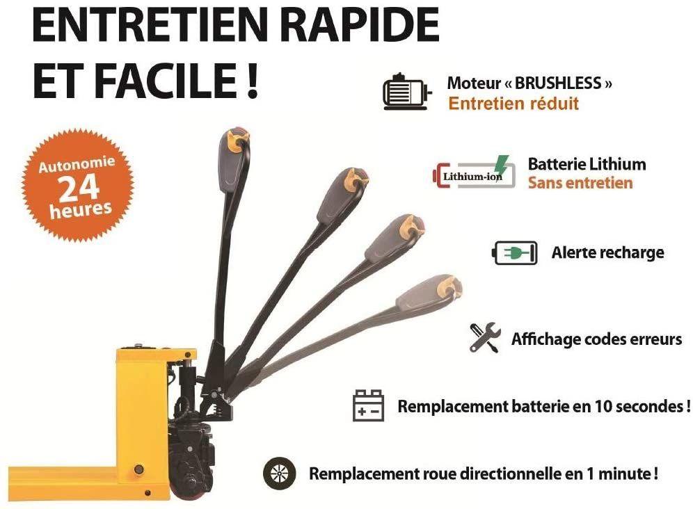 Avis LEVAC - TRANSPALETTE ELECTRIQUE 1500 KG - 6140EL