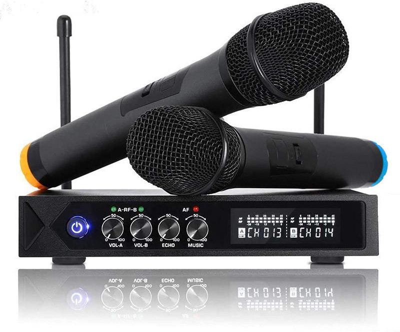 Avis ROXTAX karaoke micro sans fil Bluetooth 4.1, HUF micros karaoké professionnel avec 2 microphones