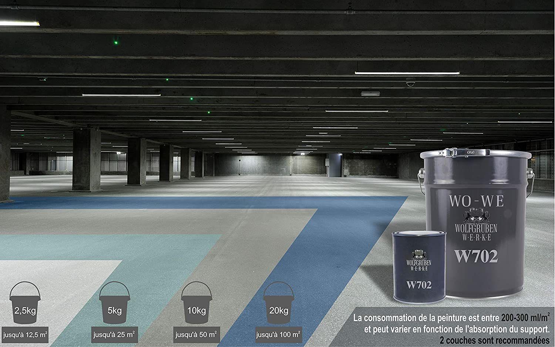 Avis Résine époxy W702 peinture sol revêtement garage industriel beton Gris silex - 2,5Kg