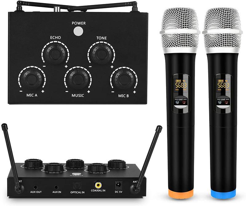 Avis Rybozen Machine de karaoké Portable, avec Deux Micro sans Fil et récepteur - mixeur de Micro UHF Deux en Un