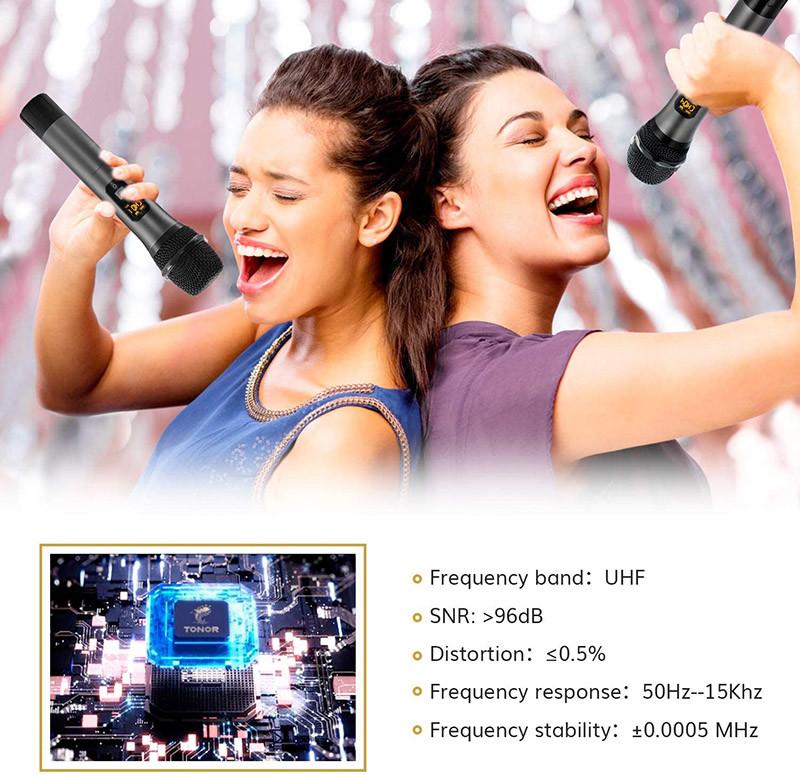 Avis TONOR Microphone sans Fil UHF Ensemble de Karaoké 3 Canaux 4 Micros Professionnel