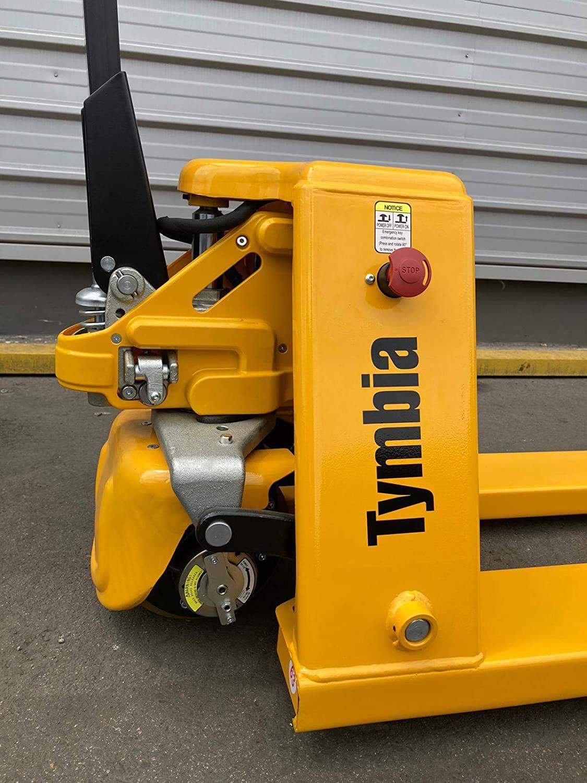 Avis TYMBIA Transpalette électrique 1500 kg – Batterie au lithium 20 Ah amovible