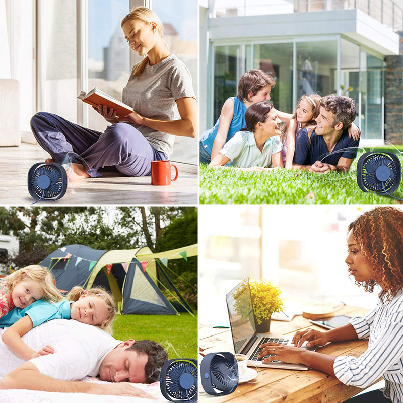 Avis - TedGem Ventilateur USB, Mini Ventilateur, Ventilateur Silencieux, Portable Ventilateur USB Silencieux 3 Vitesse Réglable USB, USB Ventilateur pour Camping, Bureau, Sport, Voyage, Alimenté par USB