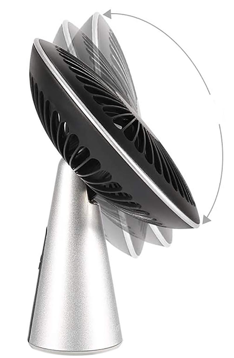 Avis - ZOTO Ventilateur USB de Bureau, 3 Vitesses Mini Ventilateur Ultra Silencieux, Portable Rechargeable Ventilateur pour MaisonBureauen Plein air