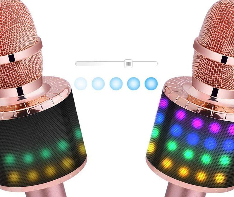 BONAOK Microphone Sans Fil, Microphone Karaoké Enfant