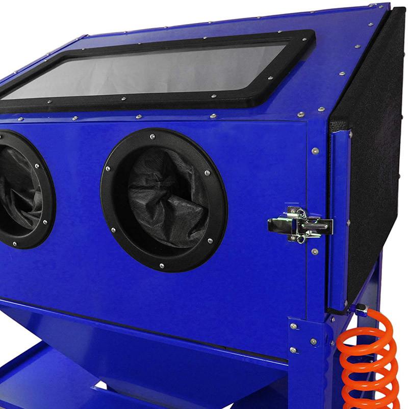 Cabine de sablage Sableuse Professionnelle MAXBLAST de 220 Litres avec Pistolet de Sablage