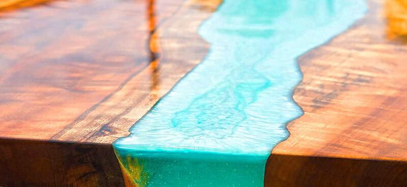 Comment confectionner une table en résine époxy ?