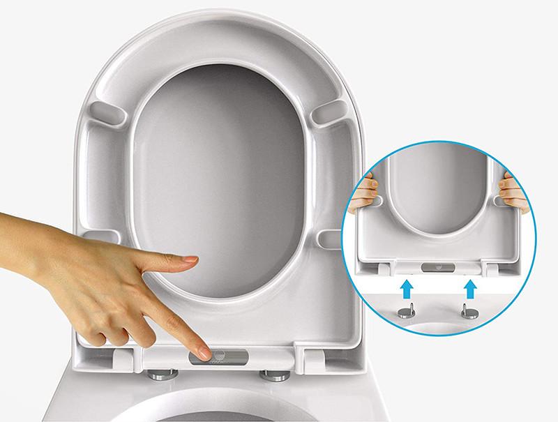 Cosondo Abattant pour wc en Forme de D - facile à monter