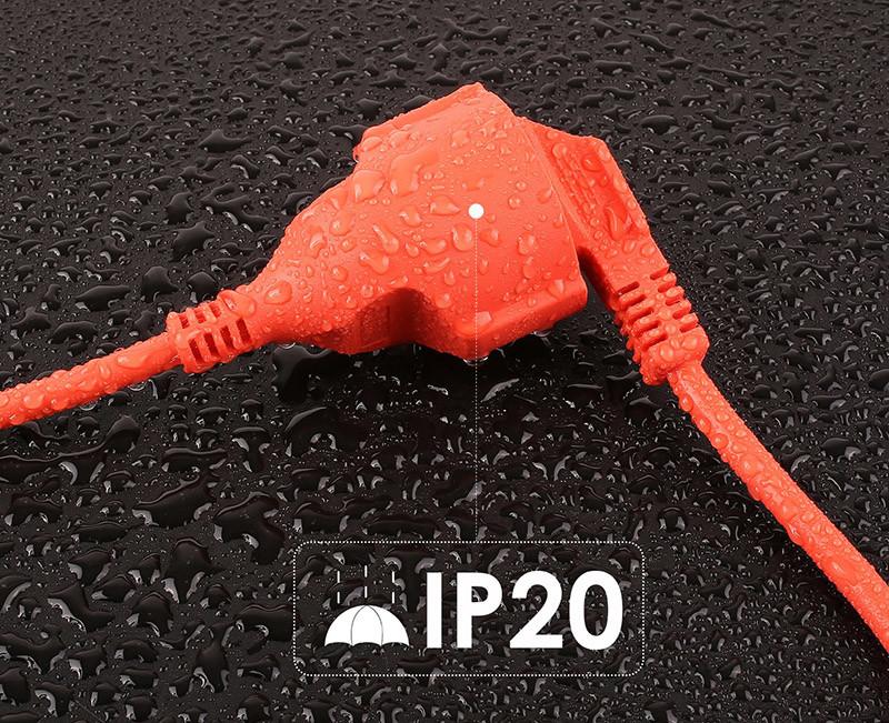 DECKEY Câble d'Extérieur Câble d'Extension pour Usage Extérieur Câble de Rallonge d'Extérieur IP20 PVC Orange