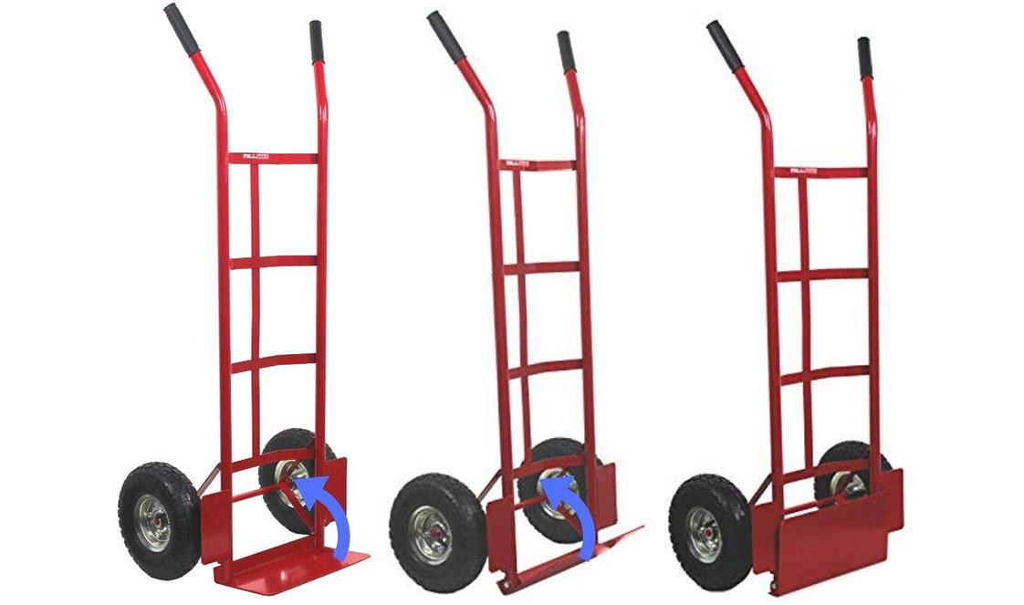 Diable de transport économique avec roues pneumatiques - charge 200 kg