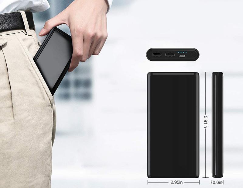 Ekrist Portable Batterie Externe - Intelligent Contrôle-IC - Powerbank 25800mah