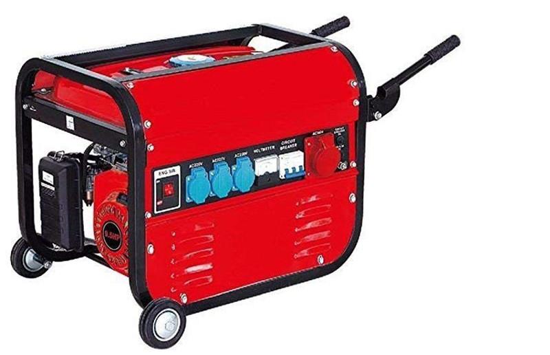 Générateur électrique à essence avec roues 15 litres 5 500 W