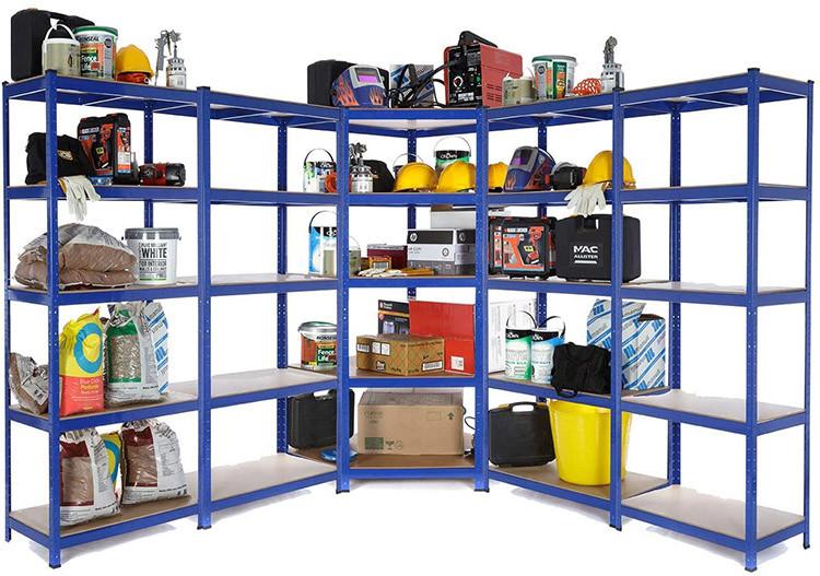 Kit d'étagères d'angle pour garage très résistantes