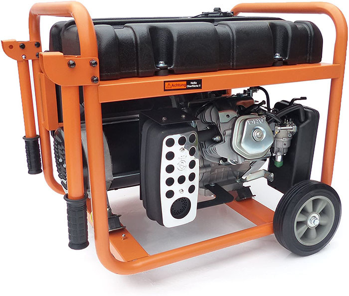 KnappWulf KW8300 Groupe électrogène à essence de secours Courant triphasé 230 V + 400 V