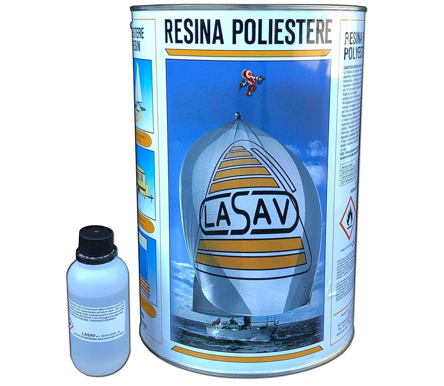 Masterbrico Résine polyester liquide transparente bicomposant pour bateaux