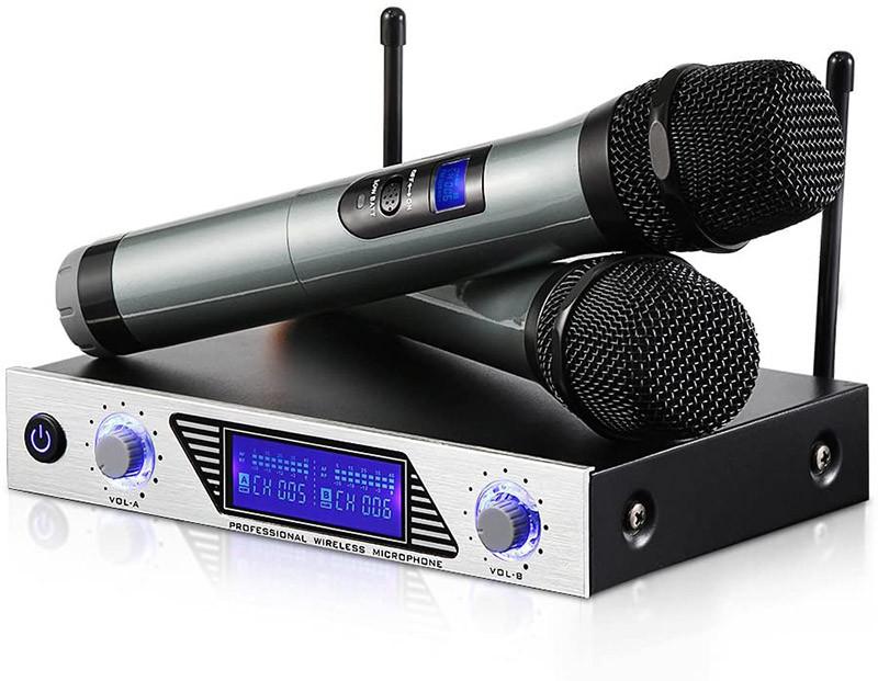 Moreslan Microphone Professionnel sans Fil Karaoké
