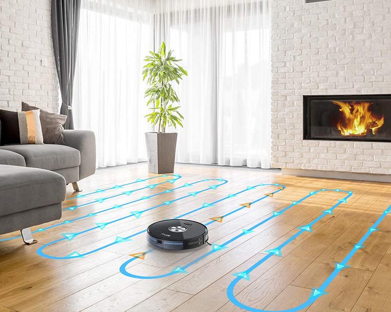 Muzili Aspirateur Robot Puissant Wi-Fi