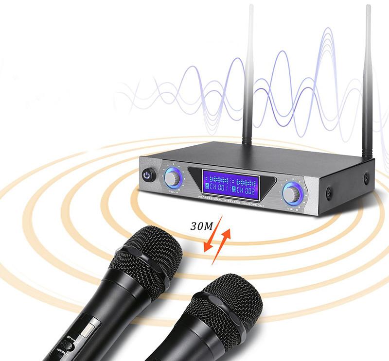 NASUM de Charimaliy Microphone Sans Fil Sono Dual Channel Sans Fil