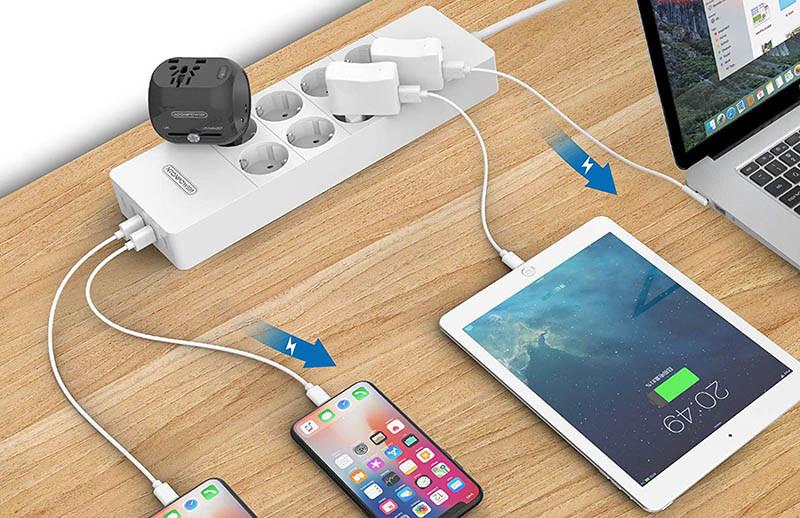 NTONPOWER Multiprise USB, Parafoudre Protection à 8 Prises
