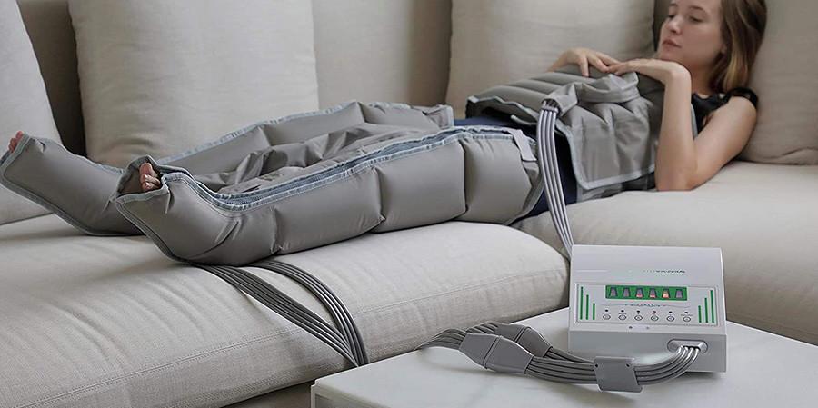 Pressothérapie professionnelle XXL avec deux très grandes jambes, deux bras et une taille