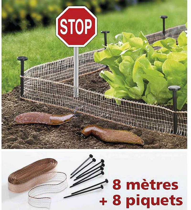 Provence Outillage Filet Stop limaces et escargots 8 m