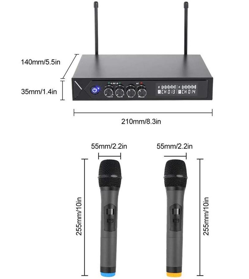 ROXTAX karaoke micro sans fil Bluetooth 4.1, HUF micros karaoké professionnel avec 2 microphones