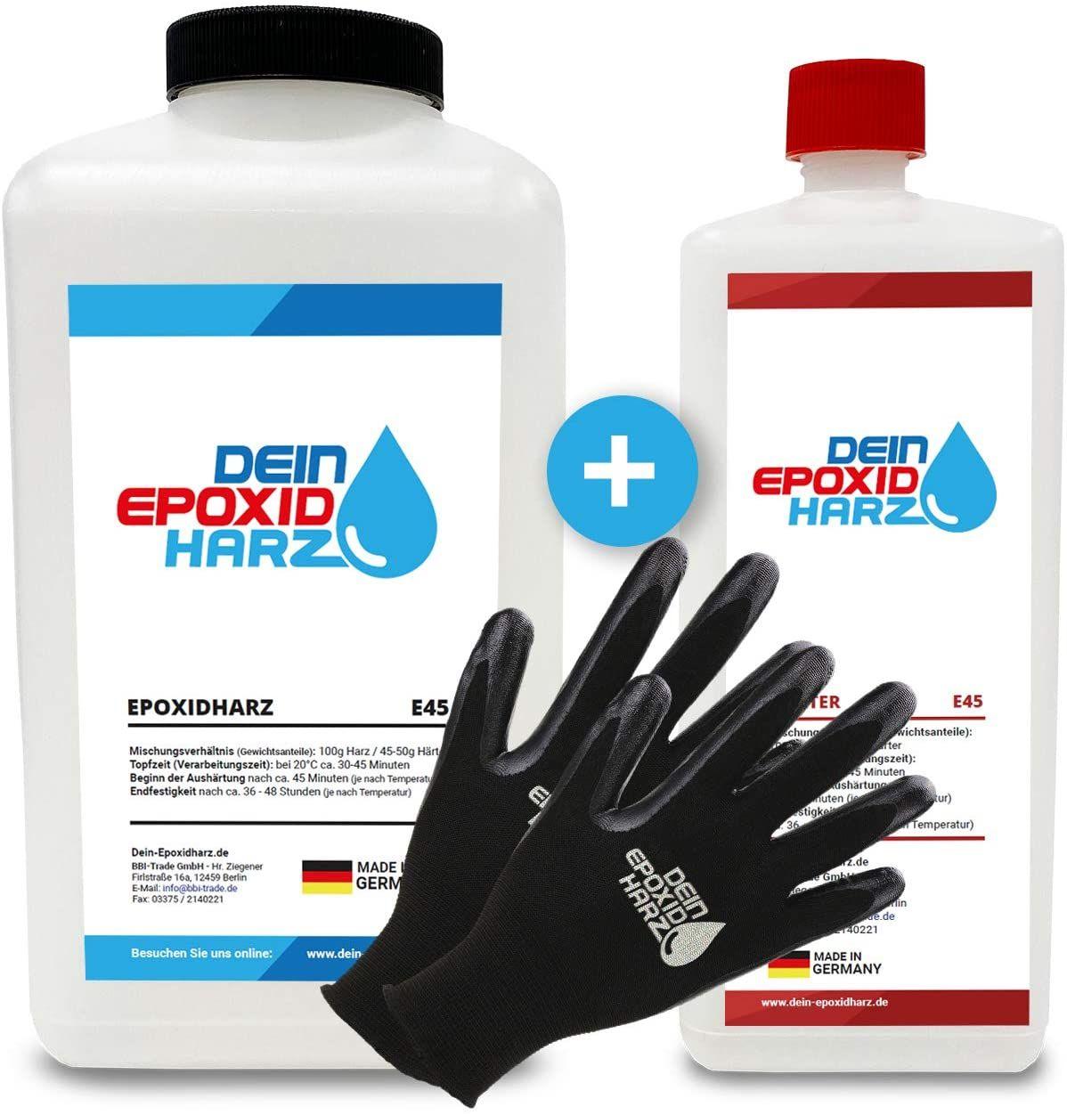 Resine epoxy transparente 3,25 kg - Qualité professionnelle limpide et à faible odeur