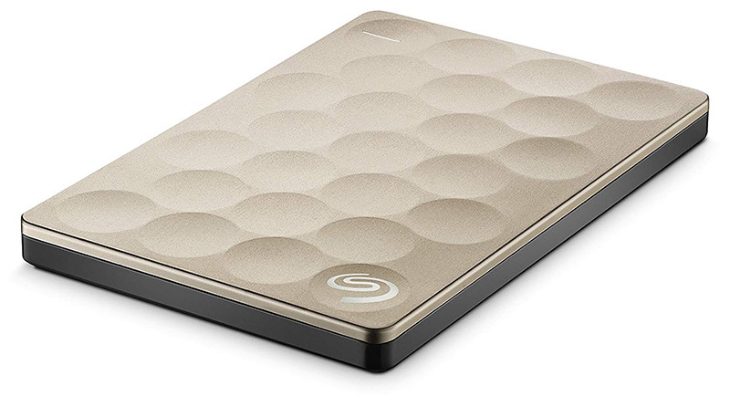 Seagate Backup Plus Slim Ultra Slim Disque dur externe portable or or 2TB