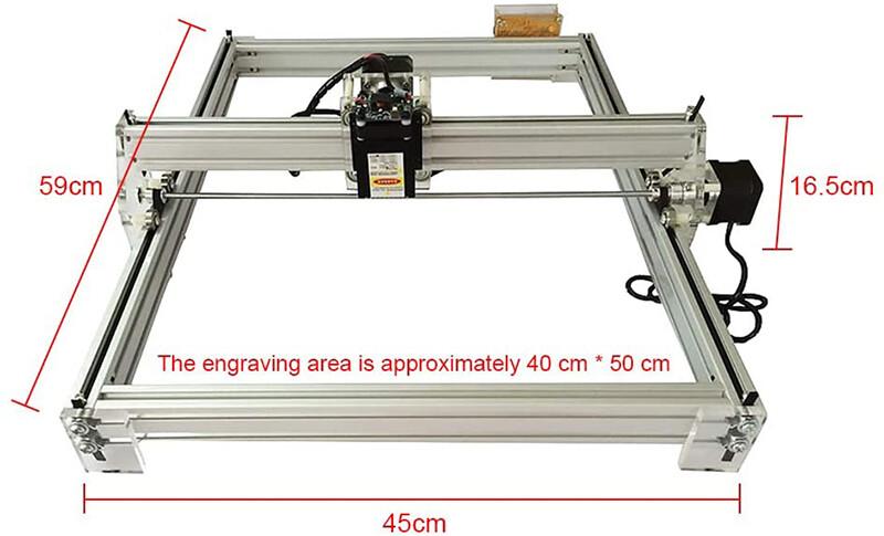 Test 4YANG Kit de machine à découper, graveur laser de bureau 12V