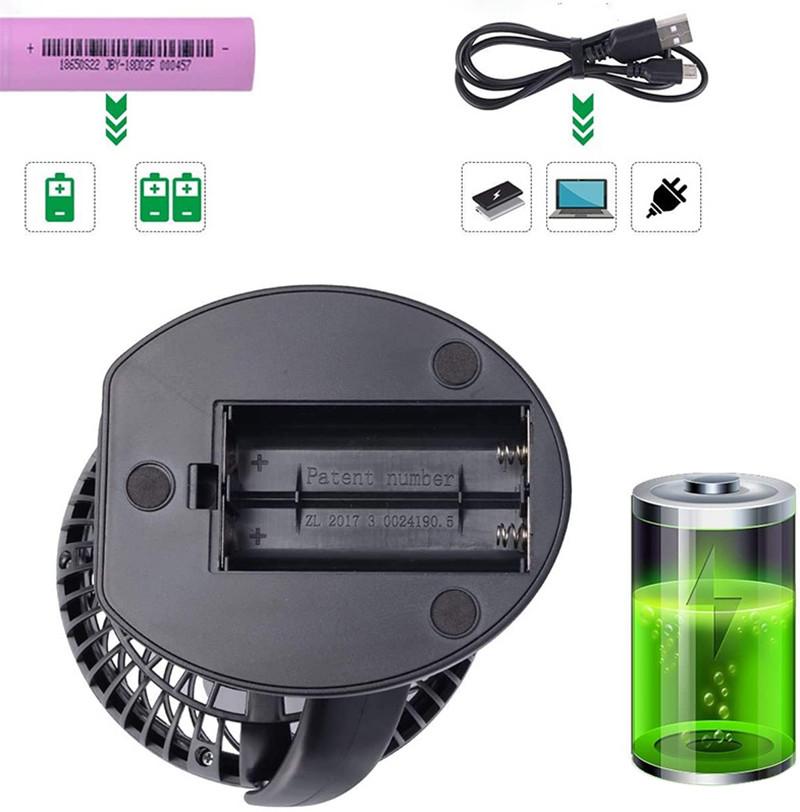 Test - AUSEIN Mini Ventilateur Table USB Ventilateur Silencieux électrique portable personnel Batterie rechargeable 360 °de rotation pour poussette de Bébé, Lieu de Travail, Camping