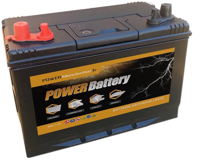 Test - BATTERY Batterie décharge Lente Camping Car Bateau 12v 110ah 330x172x242mm