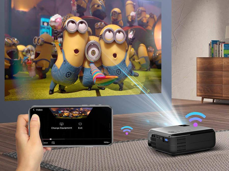 Test BOMAKER WiFi Vidéoprojecteur 6000 Lux Wireless Screen Mirroring