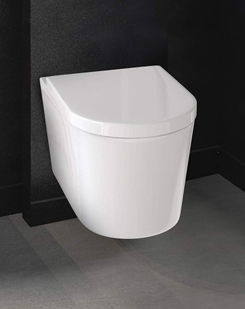 Test - Cosondo Abattant pour wc en Forme de D, frein de chute réducteur de bruit couvercle amovible facile à démonter, antibactériennes cuvette WC standard lunette de toilette, blanc, Démontage Rapide