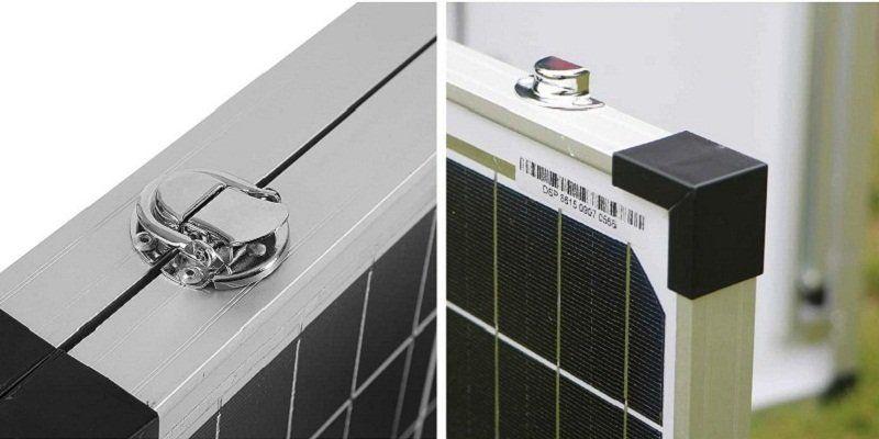 Test - DOKIO Kit Panneau solaire pliable 100WC - 12V Idéal pour les utilisations embarquées comme le bateau, camping-car, véhicule divers