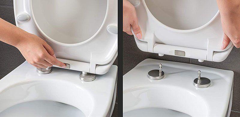 Test - Dombach® - Abattant pour wc - Nettoyage facile cuvette wc anti-bactérienne et amovible - Système innovant de fermeture en douceur avec Frein de Chute et Démontage Rapide - Lunette de Toilette