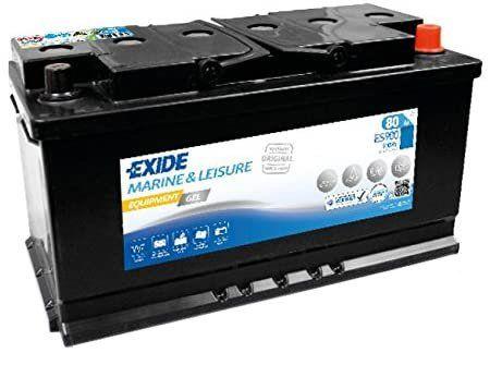 Test - EXIDE - BATTERIE MARINE Equipment GEL - Spéciale bâteaux & caravanes - Batterie 12V - 80Ah - Haute performance - Expérience d'Equipementier d'Origine - Garantie constructeur 2 ans