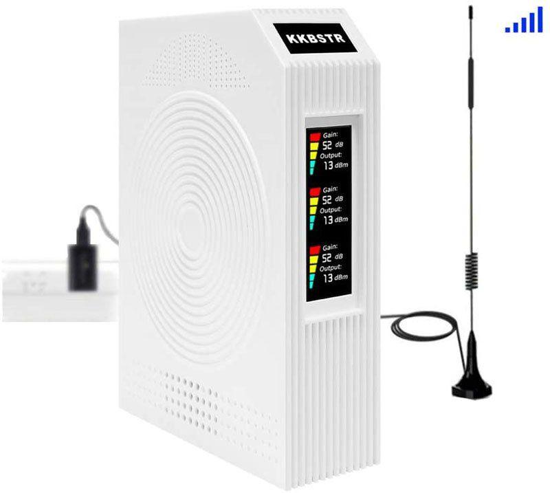 Test - KKBSTR Amplificateur de Signal pour Téléphones Portables, France Télécom Orange SFR Bouygues Répéteur de Signal Mobile Tri-Bande