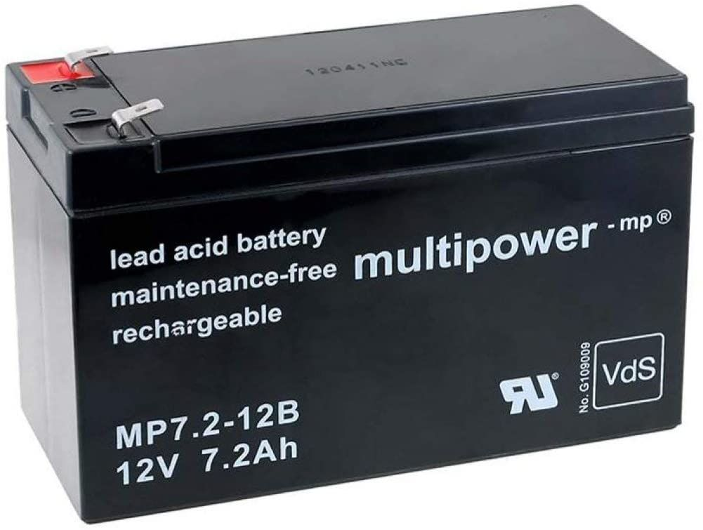 Test - Powery Batterie Rechargeable de Remplacement pour USV APC Back-UPS ES 550, 12V, Lead-Acid [ Batterie au Plomb ]