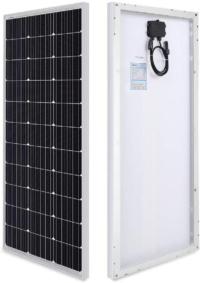 Test - Renogy Panneau Solaire 100W 12V Module Photovoltaïque Monocristallin idéal pour charger batterie 12V, Camping-car, Caravane, Bateau, Cabane et Chalet