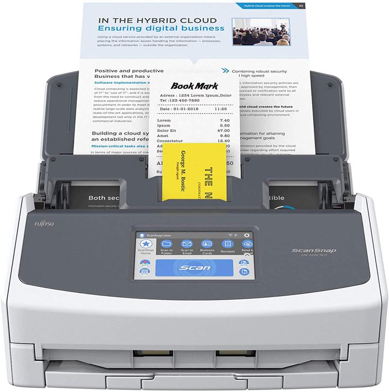Test - ScanSnap iX1600 Blanc Scanner de Documents